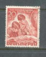 1951 GERMANY BERLIN 20+2 PFG. STAMP DAY MICHEL: 81 USED - Oblitérés