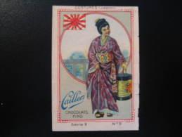 JAPAN Chocolate Cocoa Cailler Poster Stamp Label Vignette Viñeta Germany Cinderella Nippon Japon - Japan