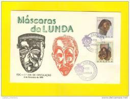 FDC FIRST DAY COVER 1976 ANGOLA ETHINC BLACK MASKS AFRICA AFRIQUE AFRIKA - Angola