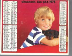 Almanach Des PTT De 1978 (département De La Haute Vienne 87 ) - Calendriers