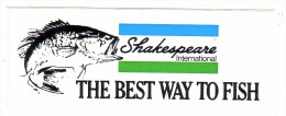 AUTOCOLLANT  STICKER  SHAKESPEARE  THE BEST WAY TO FISH - Aufkleber