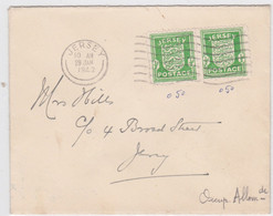 JERSEY - 1942 - ENVELOPPE FDC (29.1.1942) - OCCUPATION ALLEMANDE - Occupation 1938-45