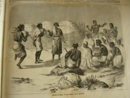Ethiopia - Osterfeier In Mensa - Kretschmer Äthiopien  - Wood Engraving 1864 ILZ1864.201 - Documentos Históricos