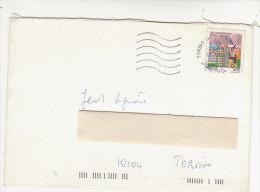 A2431 -  800£ Piano Marshall Iso Su Lettera  VG Torino 17-07-1998 - 1981-90: Storia Postale