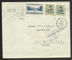 1938 CARTA GRECIA A ESPAÑA - BENEFICIENCIA SOCIAL - CENSURA - Cartas