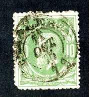 4890x)  Belgium 1869  - Scott # 32 ~ Used ~ Offers Welcome! - 1869-1883 Leopold II