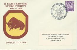 1944--1966. 25th. ANNIVERSARY OF POLISH  5th. KRESOWA  INFANTRY DIVISION. LONDON - 1939-44: World War Two