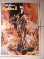 JEU VIDEO - POSTER JOYPAD - VIRTUA FIGHTER 3 (RECTO) / PORCO ROSSO (VERSO)  - 59x42,5cm - Merchandising