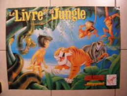 JEU VIDEO - POSTER JOYPAD - LE LIVRE DE LA JUNGLE (RECTO) / (VERSO)  - 57,5x42cm - Merchandising
