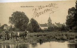 77 BETON-BAZOCHES - L'Abreuvoir - Haute Maison - Animée, Vaches - Other Municipalities