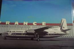AIR FRANCE POSTALE   FOKKER 27   F BSUM - 1946-....: Moderne