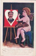 H Harmony Cupid Painting On Mechanical Easel - Mechanical