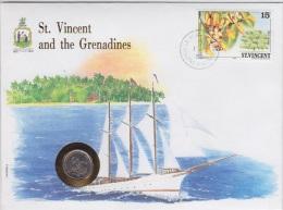 St. Vincent & Grenadines 1988 - Numisbrief 10 Cent. -  ONU  Perfetta - Britse Caribische Gebieden