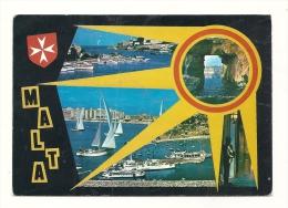 Cp, Malte, Multi-Vues, Voyagée 1988 - Malte