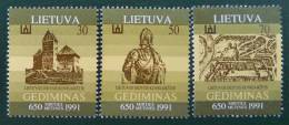 GRAND-DUC GEDIMINAS 1991 - NEUFS ** - YT 417/19 - MI 486/88 - Lithuania