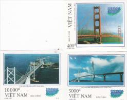 Vietnam 1997 Pacific 97 Bridges Imperforated Set MNH - Vietnam