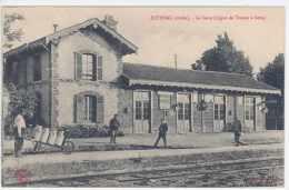 CPA 10 - ESTISSAC - La Gare (Ligne Troyes Et Sens) - Other Municipalities