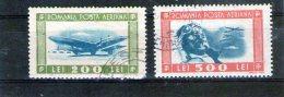 1946 - Aviation (aeriens) Mi No 998/999 Et Yv P.A. 34/35 - 1918-1948 Ferdinand, Charles II & Michael