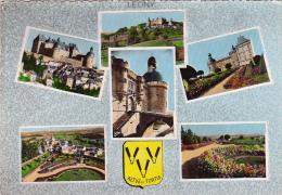 CPSM 10X15 De HAUTEFORT (24) - Château - Parterres De Fleurs - Pont Levis - Village -1965 N° 24.607 - Frankreich