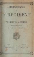 HISTORIQUE 2 REGIMENT TIRAILLEURS ALGERIENS ARMEE AFRIQUE COLONIE ALGERIE