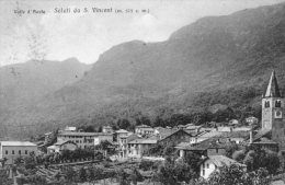 [DC7002] VALLE D'AOSTA - SALUTI DA SAN VINCENT - Viaggiata - Old Postcard - Italia