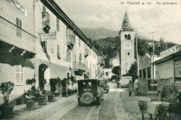 [DC7004] VALLE D'AOSTA - SANT VINCENT - VIA PRINCIPALE - RISTORANTE LEON D'ORO - Viaggiata 1931 - Old Postcard - Italia