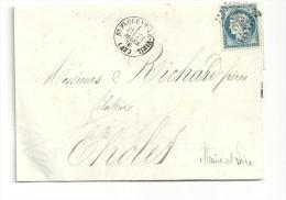 Maine Et Loire ,st Florent Le Vieil , Cachet Type 16 G C 3596 Du 21 Mars 1876 - 1849-1876: Klassieke Periode