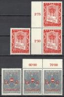 Österreich 1956 Je 3 X Mi 1029 Tag Der Briefmarke + 1030 Ungarnhilfe - Siehe Guten Scan - Yv 862 863 - 1945-60 Unused Stamps