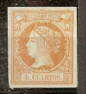 ESPAÑA 1860/61 - Edifil Esp. #52b * - Precio Cat. €60 - 1850-68 Kingdom: Isabella II
