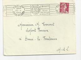 Cholet , Maine Et Loire ,  Lettre Du 20 4 1956 Avec CHO211 - Mechanische Stempels (reclame)