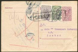 WIEN POSTAL CARD TO ZOMBOR CENSORED ROMANIA 1920 - 1918-1945 1. Republik