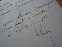 Henri LIMBOURG (1874) - Prefet De La SEINE Et OISE, Puis SEINE INFERIEURE (1877-1880).. - Autographe - Autographs