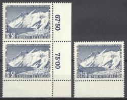 Österreich 1957 3 X Mi 1036 ** MNH Yv 869 Sc 618 Eckrandpaar Und Unterrand; Himalaya Karakorum Expedition - 1945-.... 2ème République