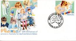 AUSTRALIE. Entier Postal Avec Oblitération 1er Jour De 1985. Sourds & Aveugles. - Handicap