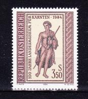 AUSTRIA   1984 , Carinthia Museum   , Y&T  #  1609,  Cv   1.00  E , **  M N H , V V F - 1981-90 Nuovi & Linguelle