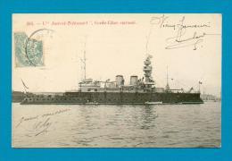 """CPA  BATEAUX   -  285  L´  """" AMIRAL-TRÉHOUART  """"  Garde-Côtes Cuirassé  ( En 1906 ) - Guerre"""