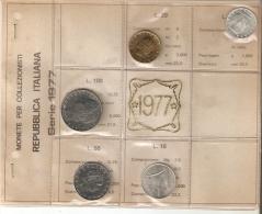 SERIE DE MONEDAS DE ITALIA DEL AÑO 1977 SIN CIRCULAR-UNCIRCULATED (COIN-MONEDA) - 1946-… : República
