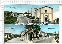 Saluti Da  CASCINE  Di  BUTI  -   4 Vues  :  Via Del Tiglio, Chiesa, Via Europa,  Via Del Tiglio - Pisa