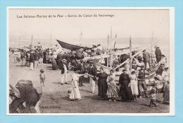 LES SAINTES MARIES DE LA MER - SORTIE DU CANOT DE SAUVETAGE - Très Belle Animation - TBE - Saintes Maries De La Mer