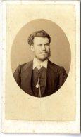 PORTRAIT HOMME GRILLET & CIE NAPLES PHOTO 2° MOITIE DU XIX° S - Antiche (ante 1900)