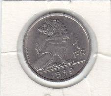 1 FRANC Nickel Léopold III 1939 FL/FR - 1934-1945: Leopold III