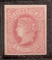 """ESPAÑA 1864 - Edifil #64 (*) (variedad """"acento En La E"""") - 1850-68 Kingdom: Isabella II"""