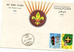 Libya Boy Scouts 1964 FDC - Libya