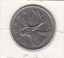 25 CENTS Nickel 1974 - Canada