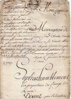 VP39 - DIJON X ROUVRES 1748 - Acte Familles De SAINT CONTEST X DE BOURBON CONDE - Seals Of Generality