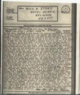 EGIPTO AIRGRAPH 1943 ORIGEN EN GUILFORD POR FALTA DE SOBRES SE ENVIA CERRADO CON TITAS ADHESIVAS AL DORSO MARCA DE CENSU - 2. Weltkrieg