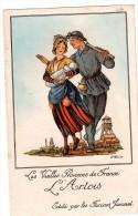 édité Par Les Farines JAMMET, Le Mineur  Son épouse Et Leur Petit Quinquin, Au Loin Chevalet (23.19) - Publicités