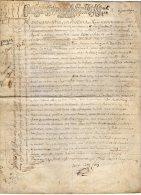 VP40 - PARIS 1699 - Acte D' Acquisition Familles GAILLARD X COLAS - Seals Of Generality