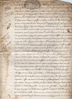 VP41- PARIS X CONCHES X LAGNY 1728 - Acte Bail De Maison - Seals Of Generality
