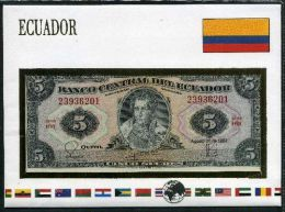 Ecuador Notenbrief 5 Sucres Perfetta - Ecuador